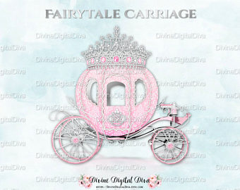 Cart clipart princess Etsy crown Pink Silver Carriage