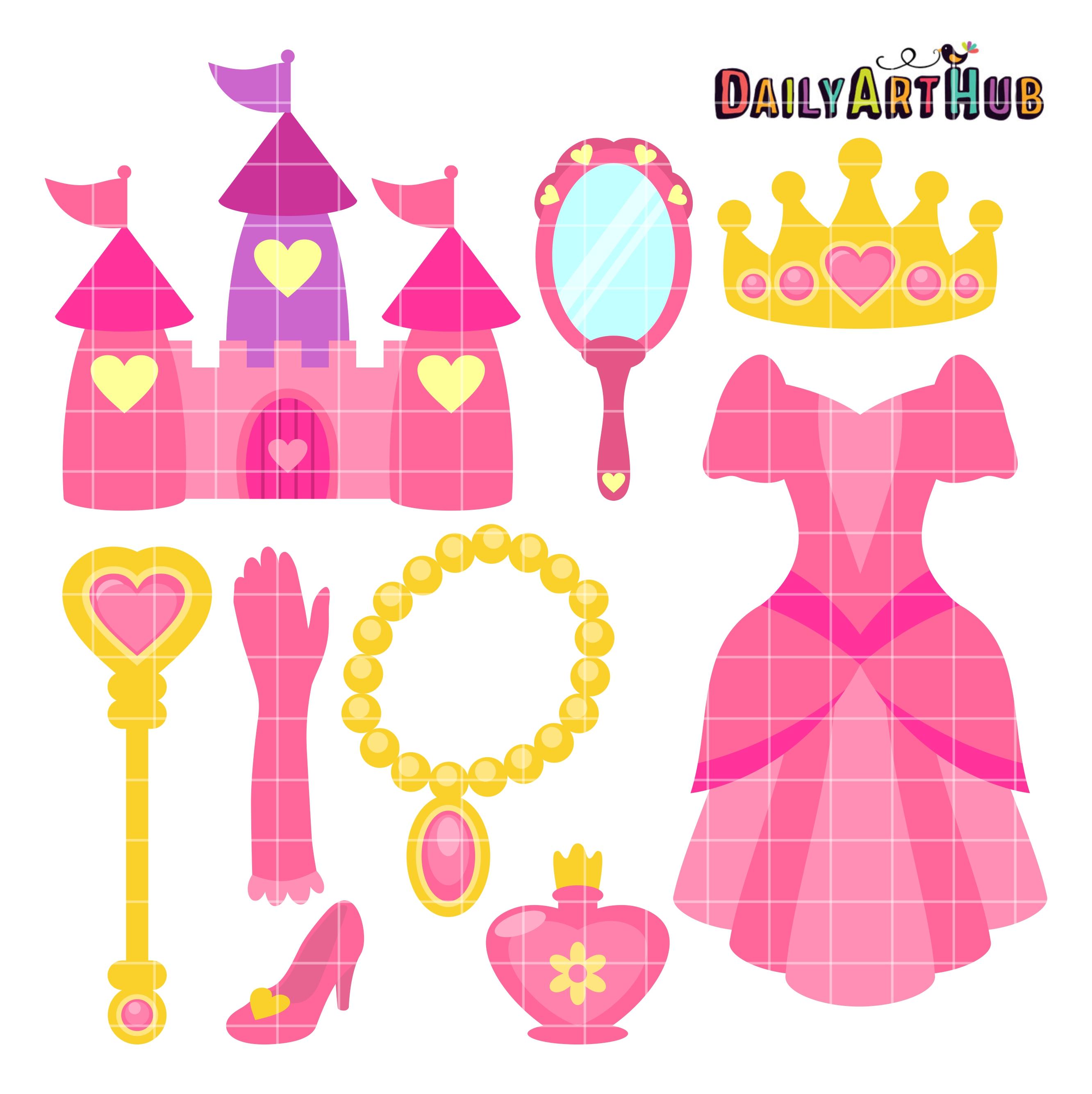 Cart clipart princess Daily Art Hub Things Set