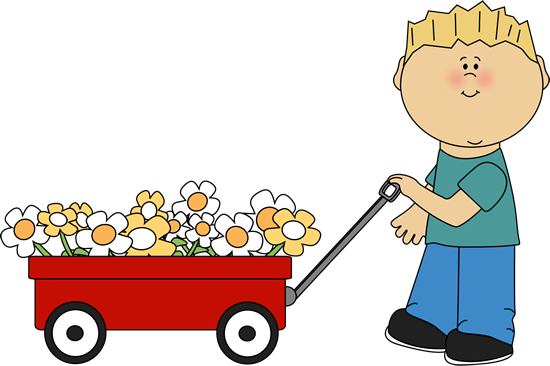 Cart clipart pulled Clipart cliparts Flowers With Wagon