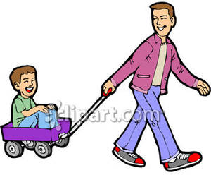 Cart clipart pulled Royalty In Free Son Picture
