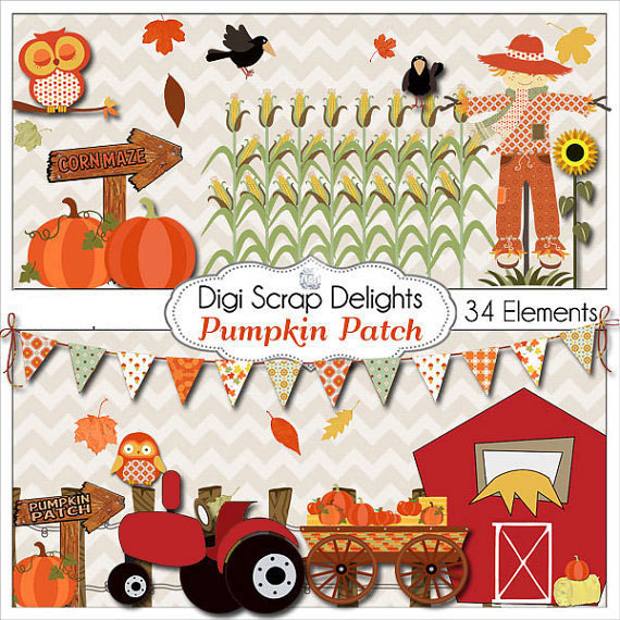Cart clipart pumpkin patch  Pumpkin Owls Party Patch