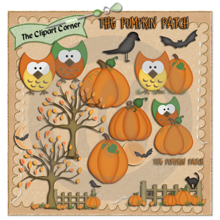 Cart clipart pumpkin patch For The Corner  Pumpkin