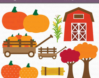 Cart clipart pumpkin patch Doctor Commercial Clipart Pumpkin Autumn
