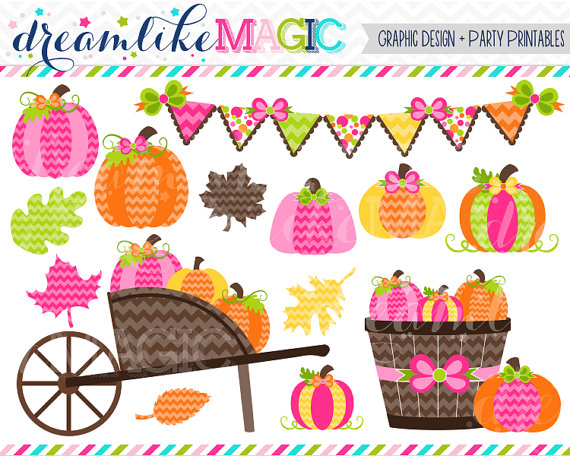 Cart clipart pumpkin picking Pink for or Commercial