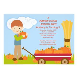 Cart clipart pumpkin picking Pumpkin Invitation Picking Invitations Birthday
