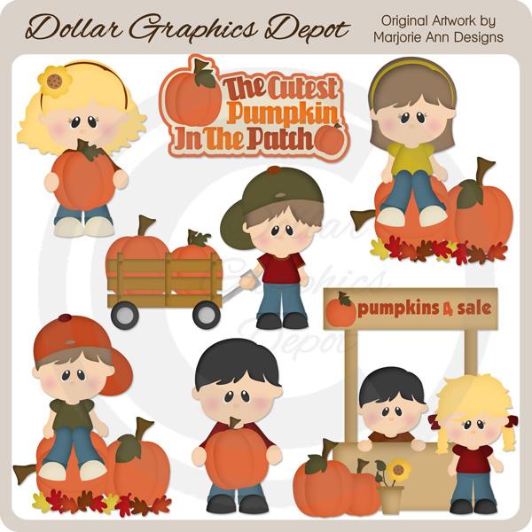 Cart clipart pumpkin picking Pumpkin 1 Art Cutest Graphics
