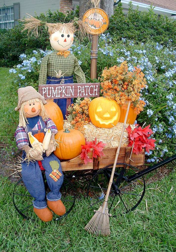 Cart clipart pumpkin picking FALL Hay DECORATION bales