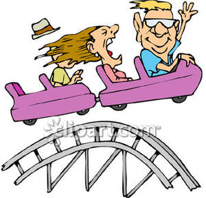 Cart clipart roller coaster Clipart People Royalty on Three