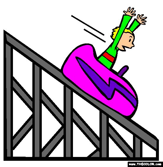 Cart clipart roller coaster Rolleraster clipart Roller the Roller