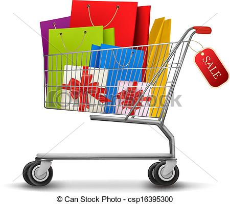 Cart clipart shoping Full With of Clipart gift