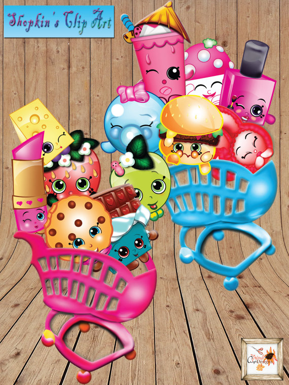 Cart clipart shopkins Printable Two files Shopping PNG