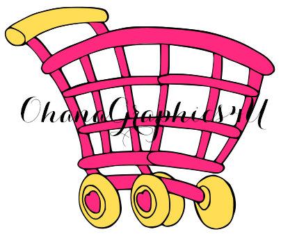 Trolley clipart shopkins Shopkins Inspired Hand Drawn Cart