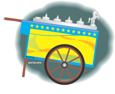 Cart clipart sorbetero Peddler) colorful of based wooden