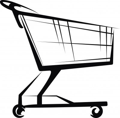 Cart clipart supermarket trolley Collection cart Per Grocery Can
