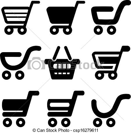 Trolley clipart icon Trolley black black of simple