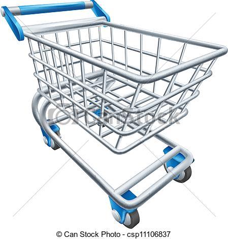 Trolley clipart trolly Illustration Supermarket cart cart An