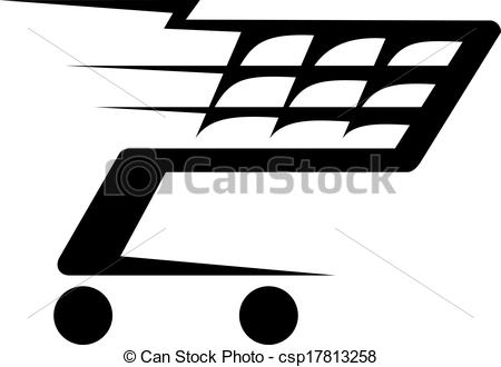 Trolley clipart icon Moving of a illustration a
