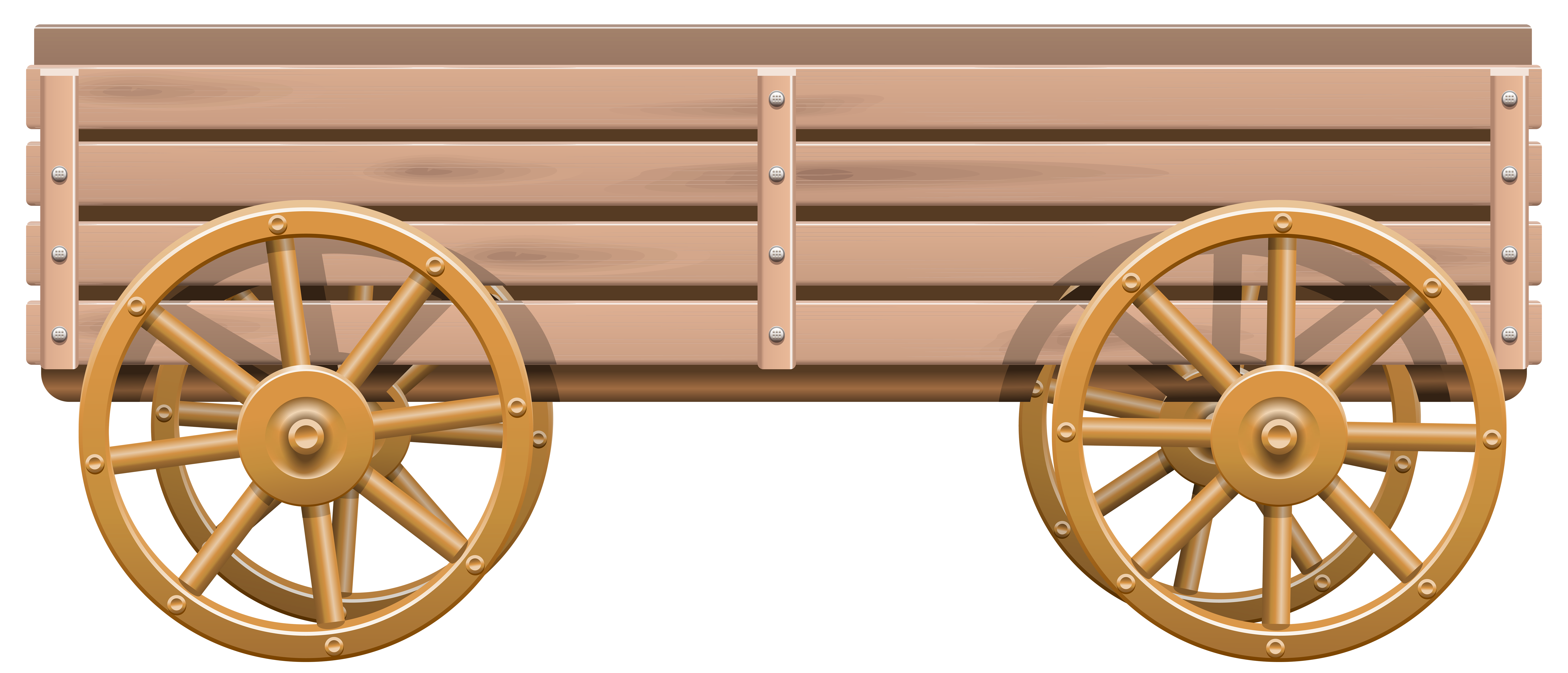 Cart clipart wooden cart Cart Wooden Wooden Clip PNG
