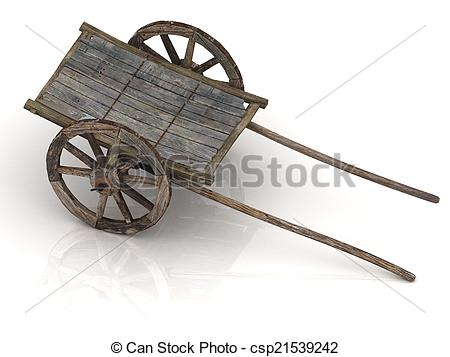 Cart clipart wooden cart Of Old Drawing isolated wooden