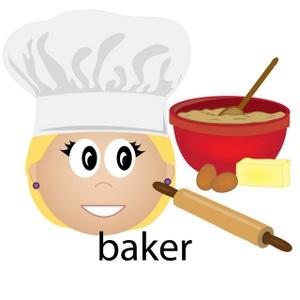 Cartoon clipart baker Image Female Clipart Baker Art