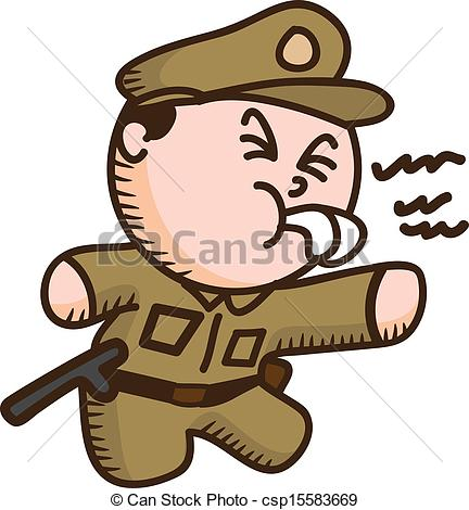 Cartoon clipart policeman  Vector Art policeman of