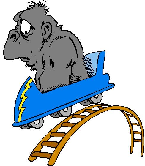 Cartoon clipart roller coaster Roller art Free Clipartix Clipart