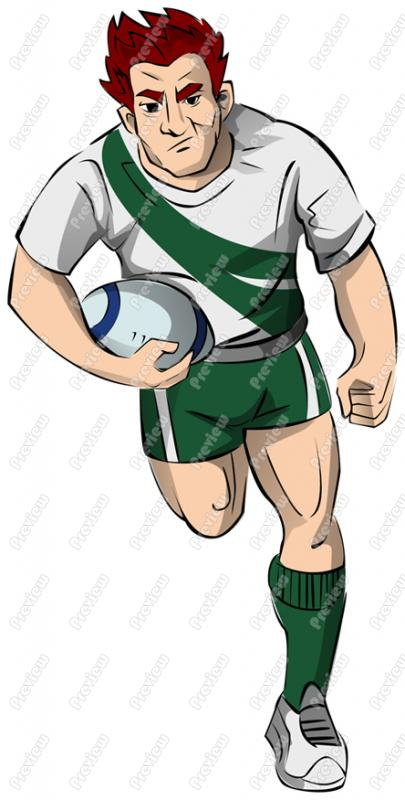 Cartoon clipart rugby Player Player Clip Free Rugby
