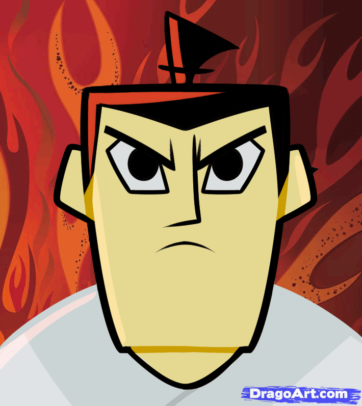 Drawn samurai temple Jack Jack Samurai Samurai Step