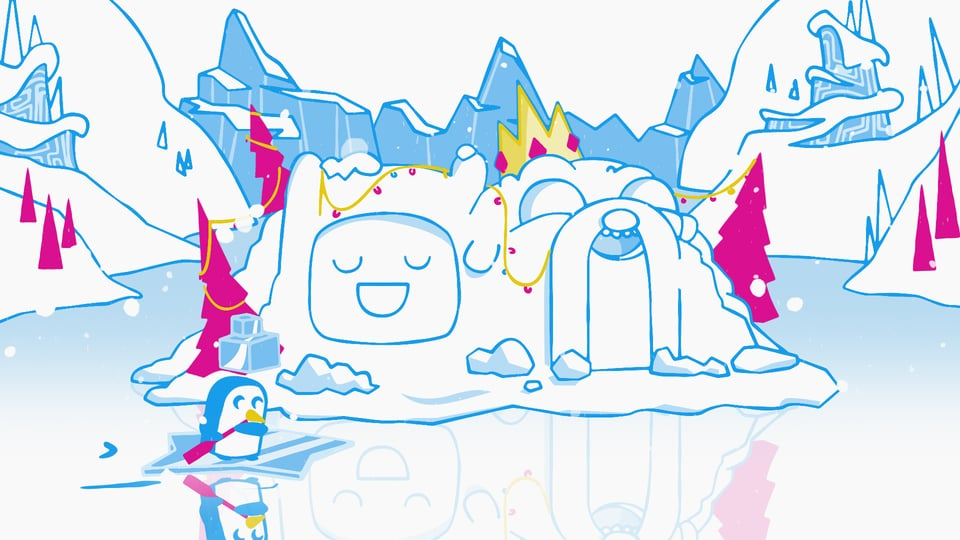 Cartoon Network clipart variable Network Holiday on Winter