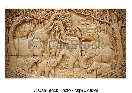 Carvings clipart clay Stock saw paper  wall
