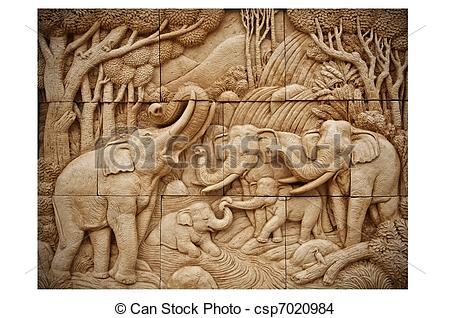 Carvings clipart clay Stock saw with carving wall