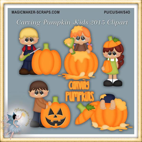 Carvings clipart kid Kids Scraps 2015 Clipart Pumpkin