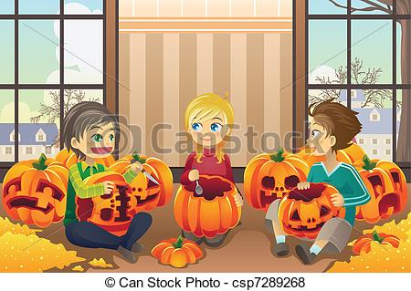 Carvings clipart kid Kids of A Kids illustration