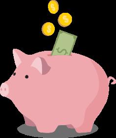 Coin clipart money bank Savings dollar coins with CIBC