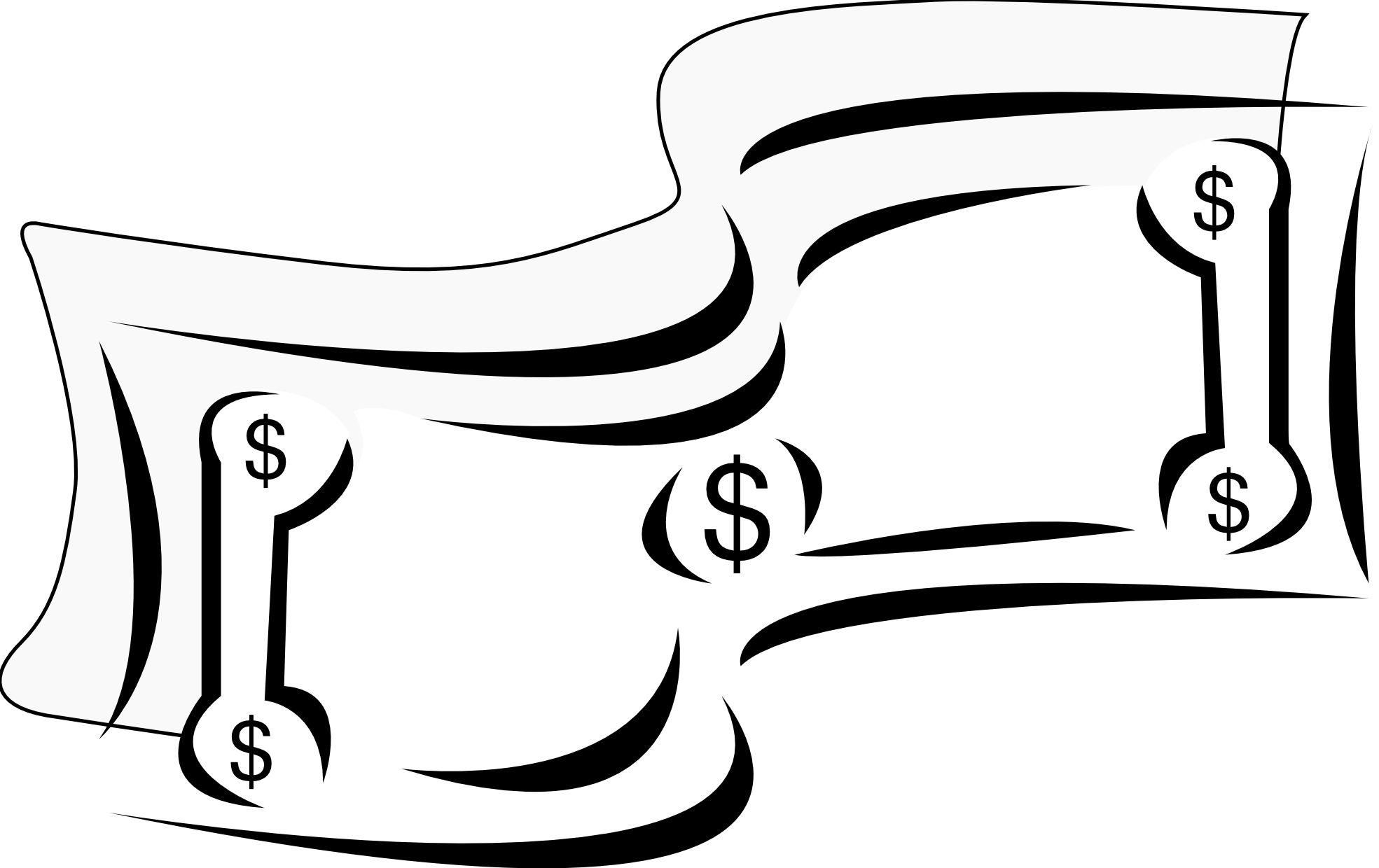 Cash clipart billing Bills  Free Black Clipart