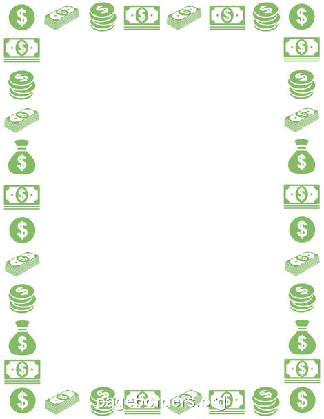 Cash clipart border Clipart Money Border Clipart Mission