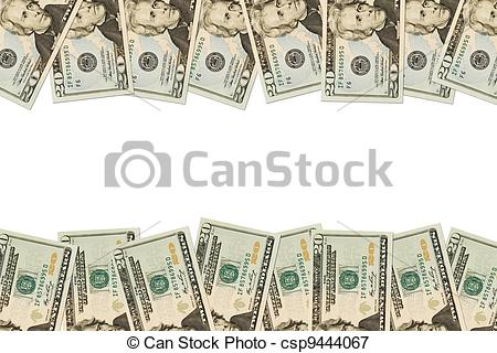 Cash clipart border Of csp9444067 bills Picture dollar