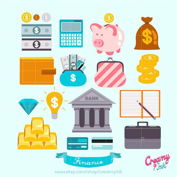 Cash clipart finances Art Digital Cash Digital Clipart