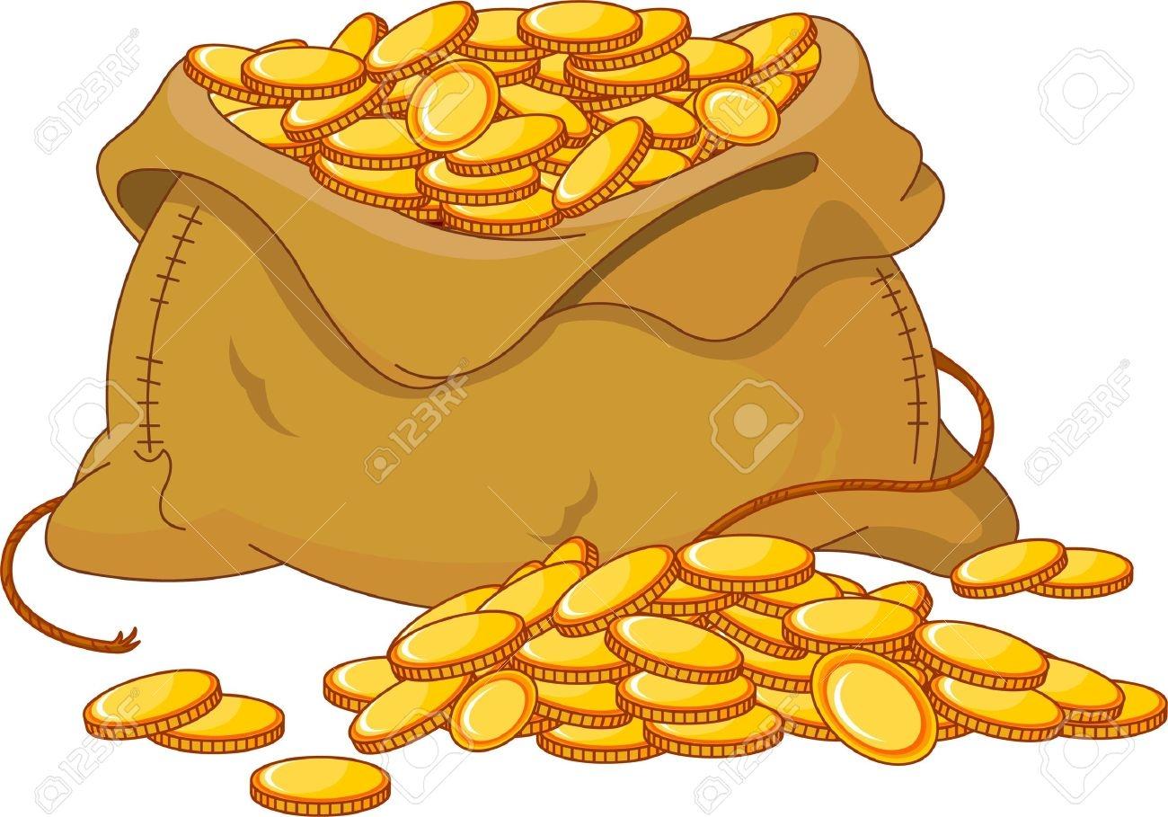 Coin clipart bag gold coin Coin clipart clipart ClipartAndScrap gold