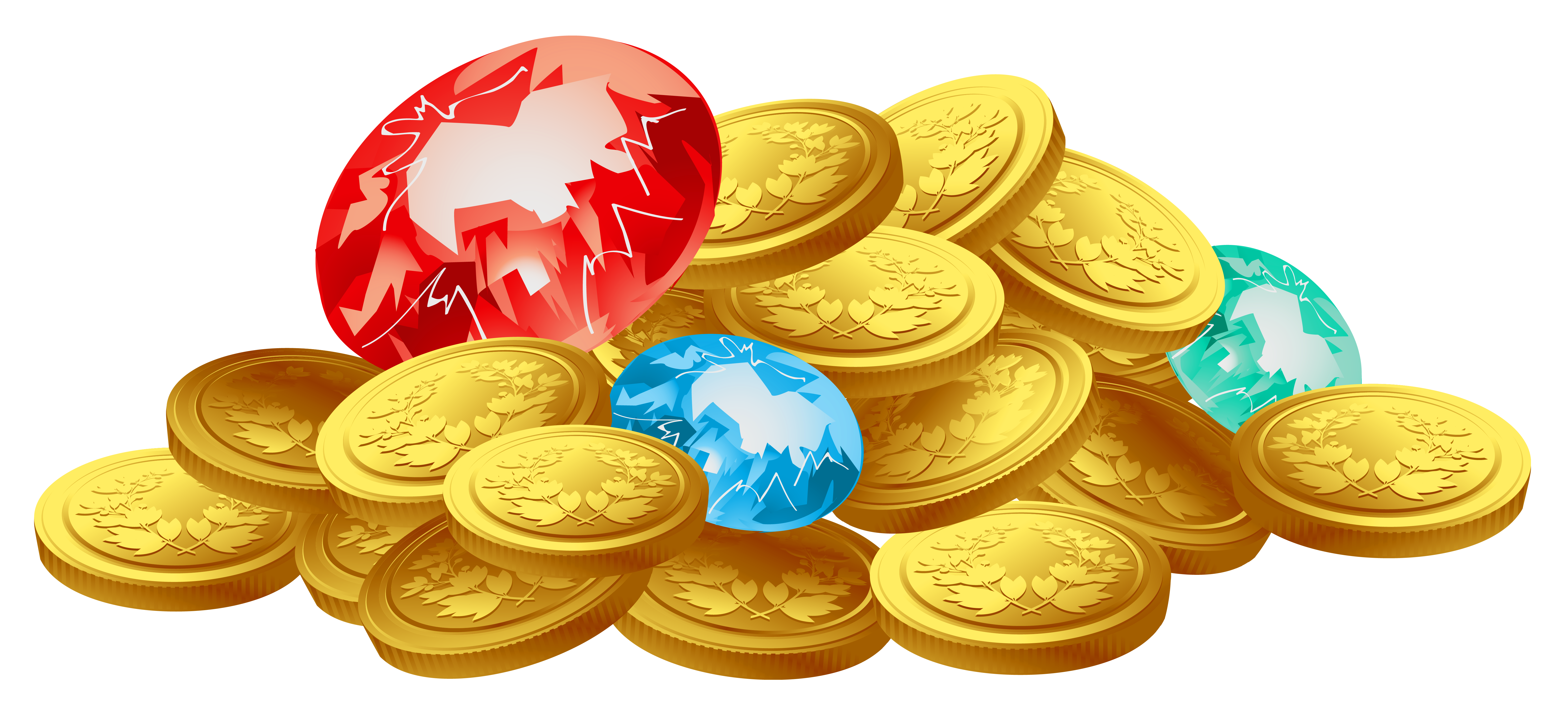 Treasure clipart pearl Treasure Coins clipart money and