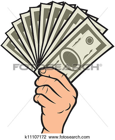 Cash clipart hand holding The of Art of EPS