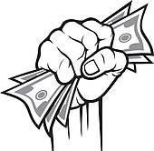 Cash clipart hand holding Cash in Cash clipart Clip