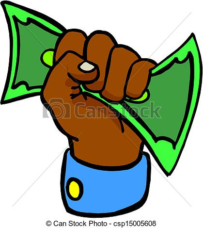 Cash clipart hand holding Giving money Hand clipart vector