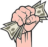 Cash clipart hand holding Money Banknotes in Money hand