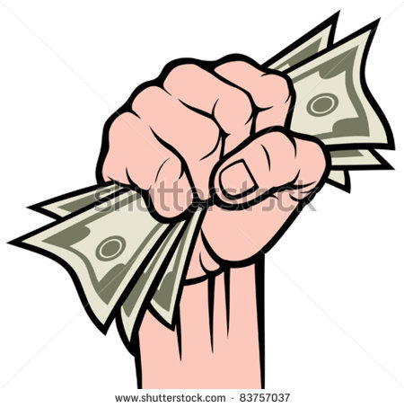 Cash clipart hand holding Money Hand Offering Hand Money