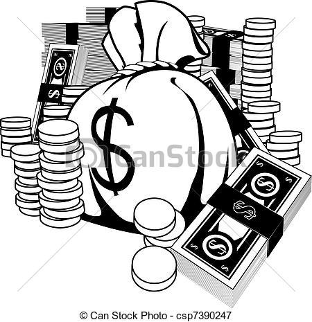 Cash clipart logo Cash of white  Vectors
