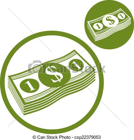 Cash clipart logo Cash Dollars Vector money color