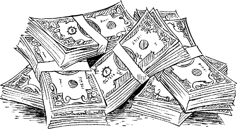Cash clipart money bill #13901 Clipart money Technical Black
