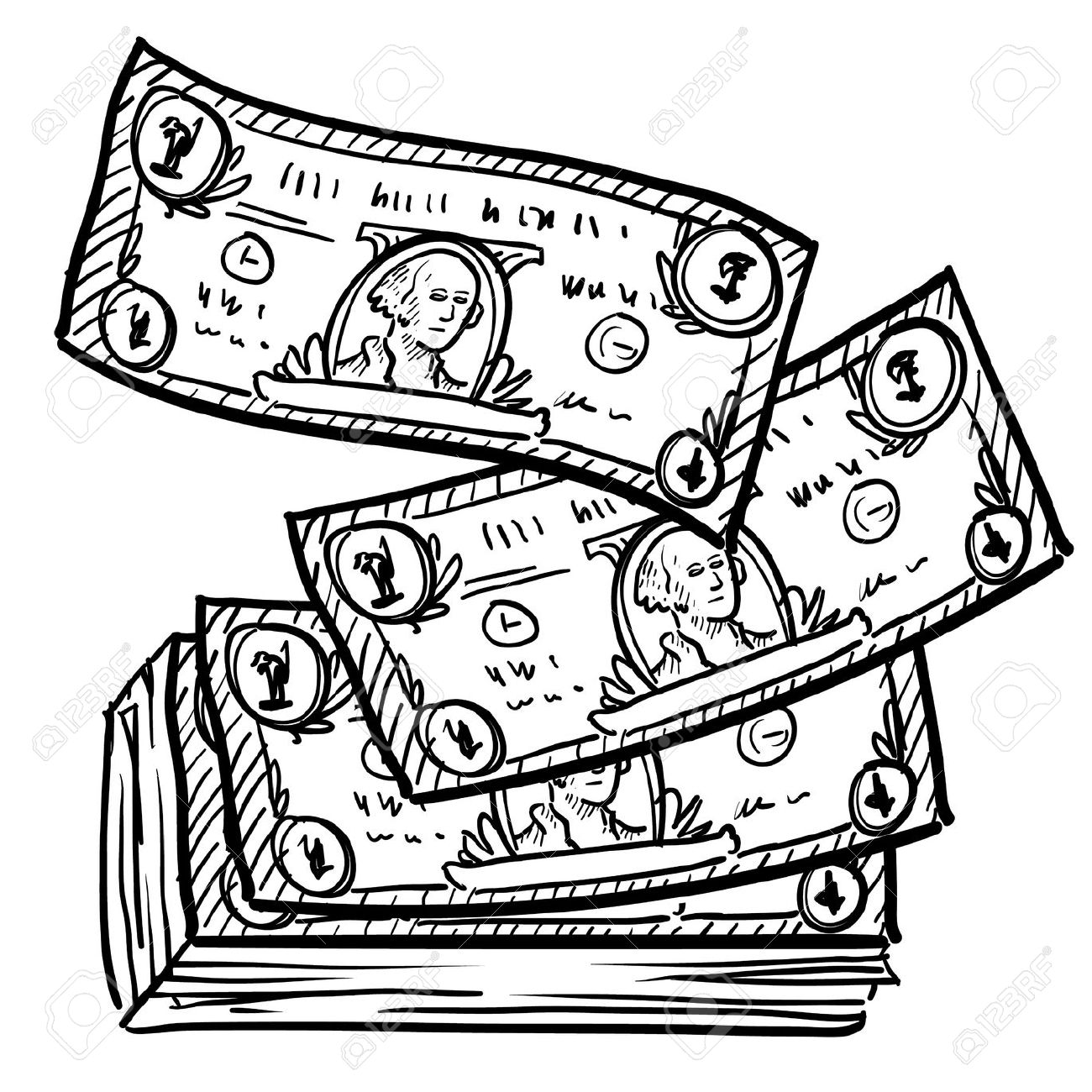 Cash clipart money bill  Money White And Free