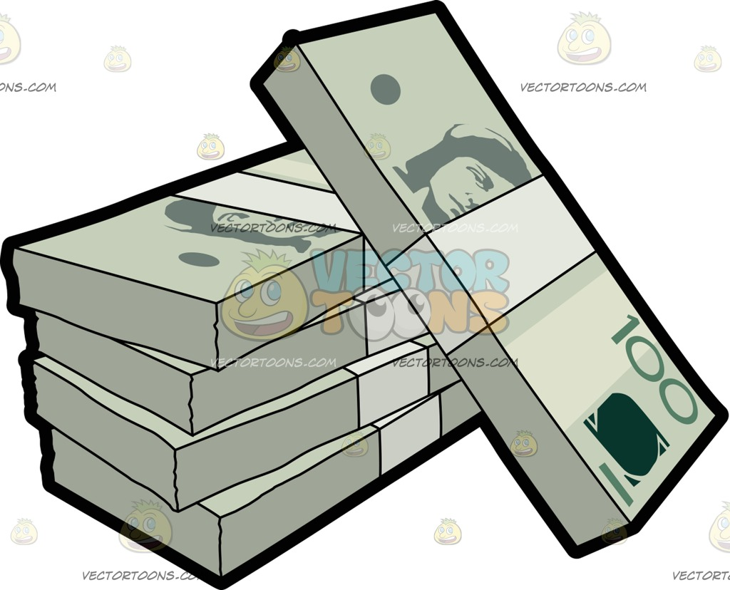 Money clipart stacked Cartoon Dollar clipart Stack clipart